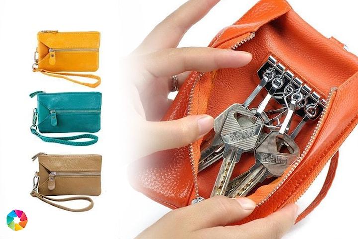 Multiplånbok i äkta läder