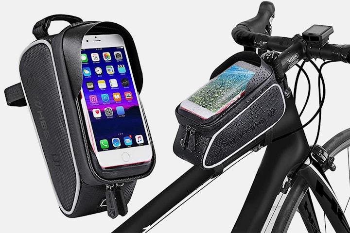 Sykkelveske med lomme for mobil