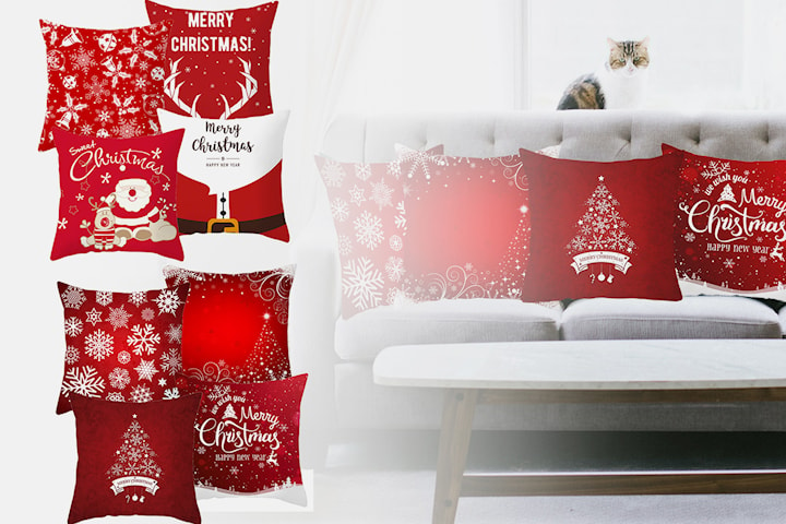 Kuddfodral med julmotiv
