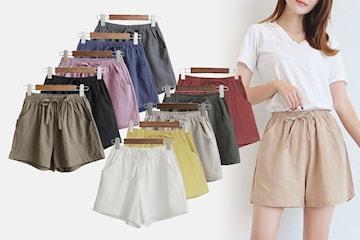 Luftige shorts til dame