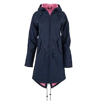 Marinblå, 5XL, Women's Softshell Wind Coat, Vindjacka dam, ,