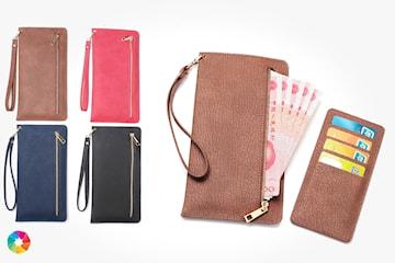 Trendy clutch lommebok