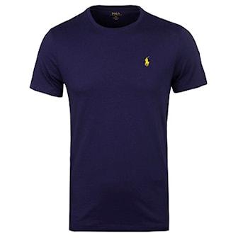 Blå/Gul, S, Ralph Lauren, T-shirt, Custom fit, T-skjorte fra Ralph Lauren, ,