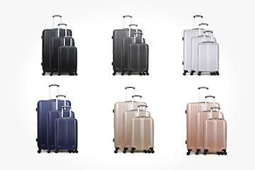 Resväska med teleskophandtag 3-pack