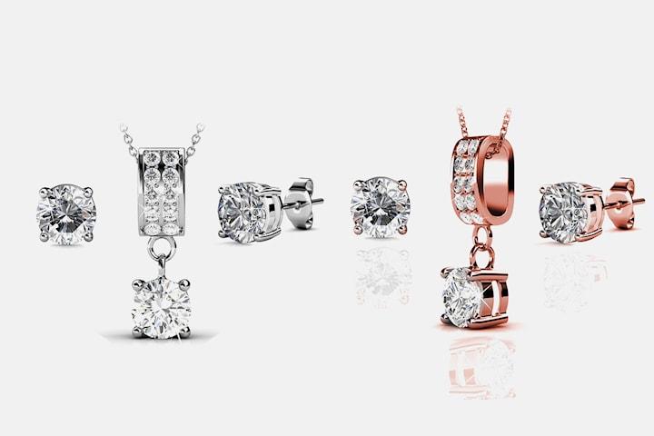 Maia smyckeset med Swarovski-kristaller