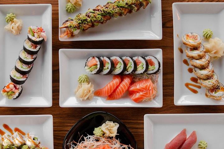12 biter takeaway sushi hos Fish Me