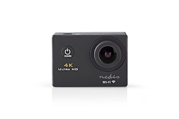 Nedis 4K Ultra HD Actionkamera, Svart