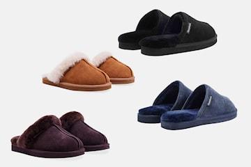 Redfoot Shoes fårskinnstofflor