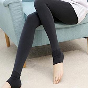 Svart, Fur Leggings, Fodrade leggings, ,