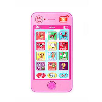 Rosa, English Simulation Mobile Baby Toy Phone, Leketelefon med lyder, ,