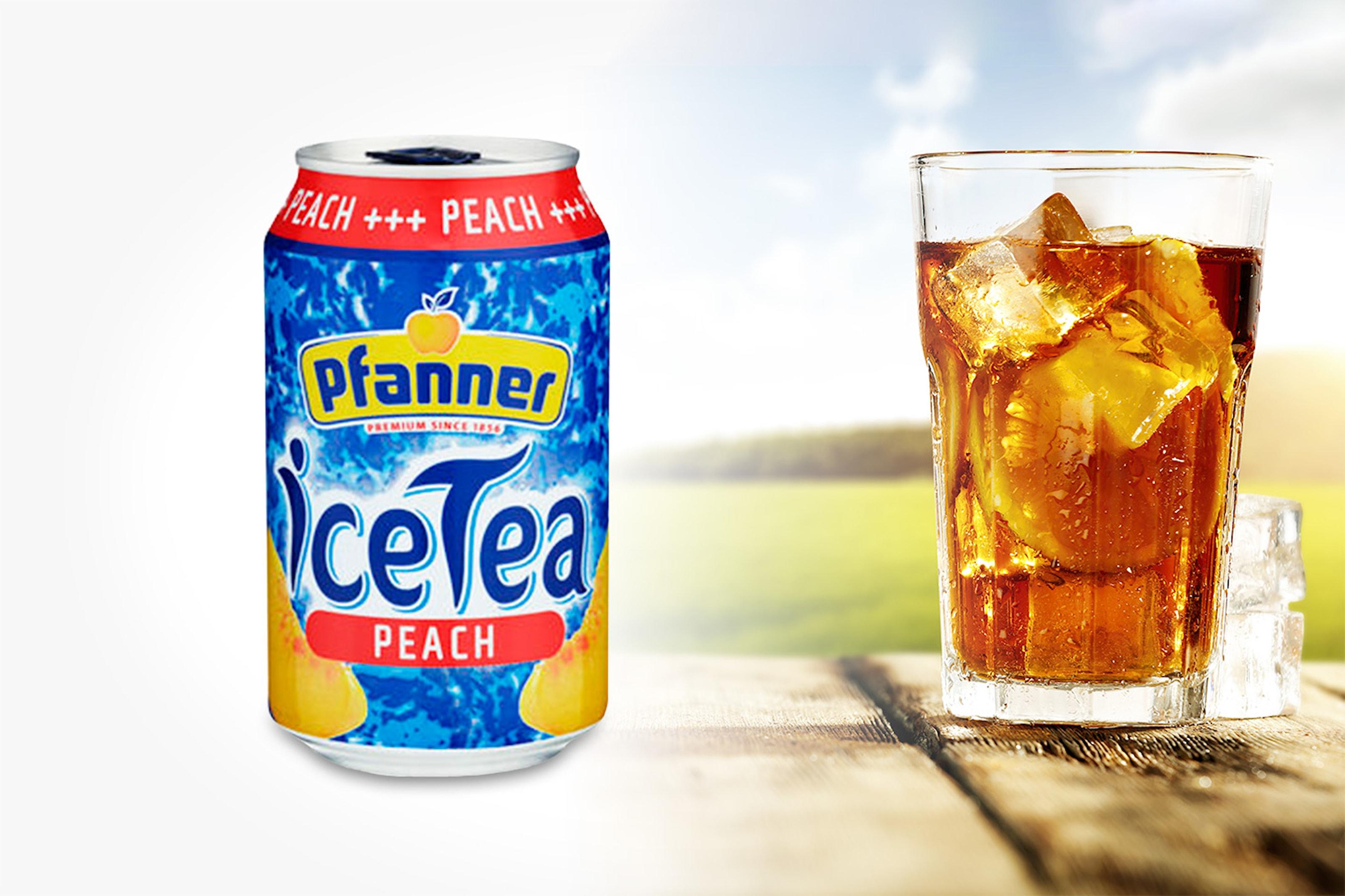 Pfanner Ice Tea Peach, 24-pack inkl. pant
