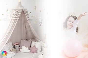 Lätt och luftig sänghimmel