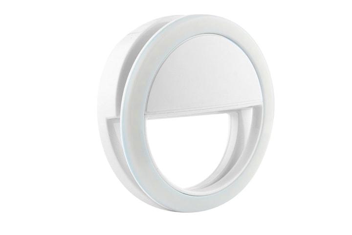 Universal Selfie-lampe / Ring med ulike lysnivåer - Hvit
