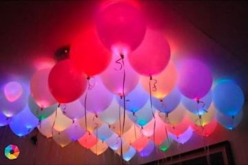 Ballonger med LED-lys, 5-pack