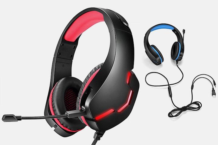 Gaming-hörlurar med mikrofon