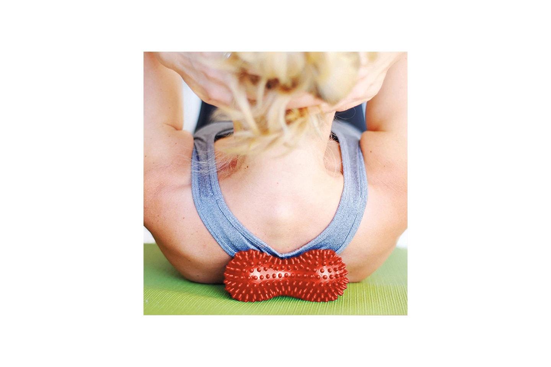 Massageboll med mjuka taggar