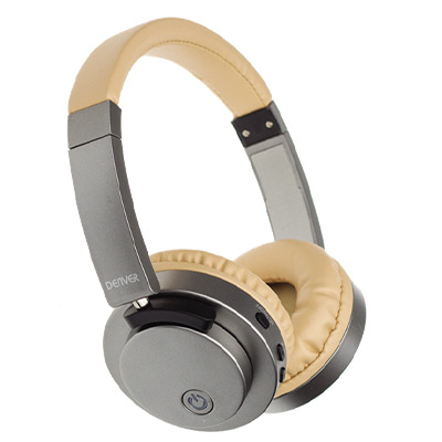 Beige, Denver Wireless Bluetooth headset with active noise reduction, Trådlösa hörlurar med brusreducering,  (1 av 1)