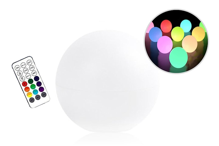 Vanntett lysende ball med LED