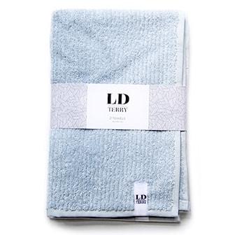 Ljusblå, LD Terry Towel set stripes, Handduksset från LD Terry, ,