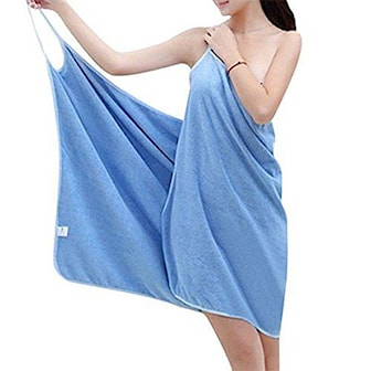 Blå, Bathtowel Dress, Handduksklänning, ,