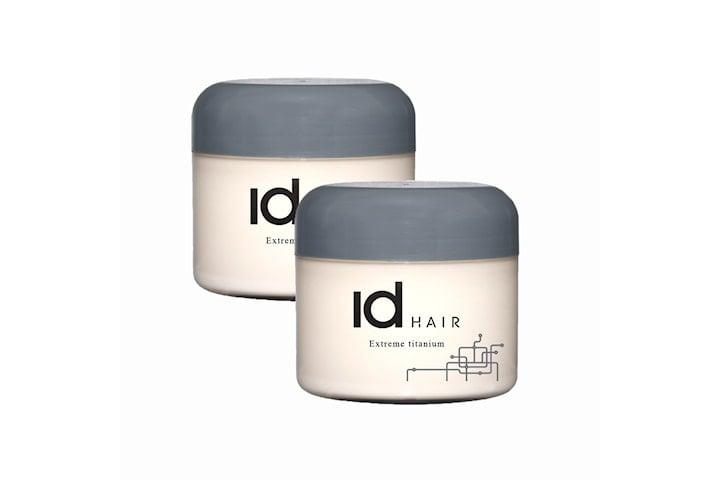 2-pack ID Hair Extreme Titanium Wax 100ml