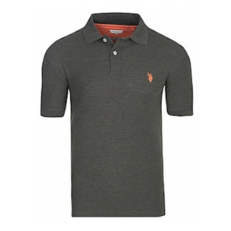 Anthracite, M, US Polo Basic Polo Shirts, Pique fra US Polo, ,