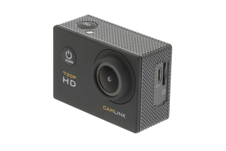 HD Action Kamera 720p, Svart