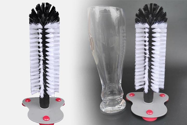 Rengöringsborste för glas och flaskor