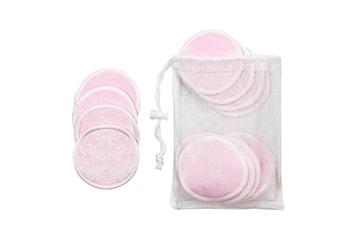 16x Återanvändbara Sminkpads - Rosa
