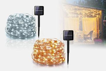 Solcelle-lyslenke med LED-lys