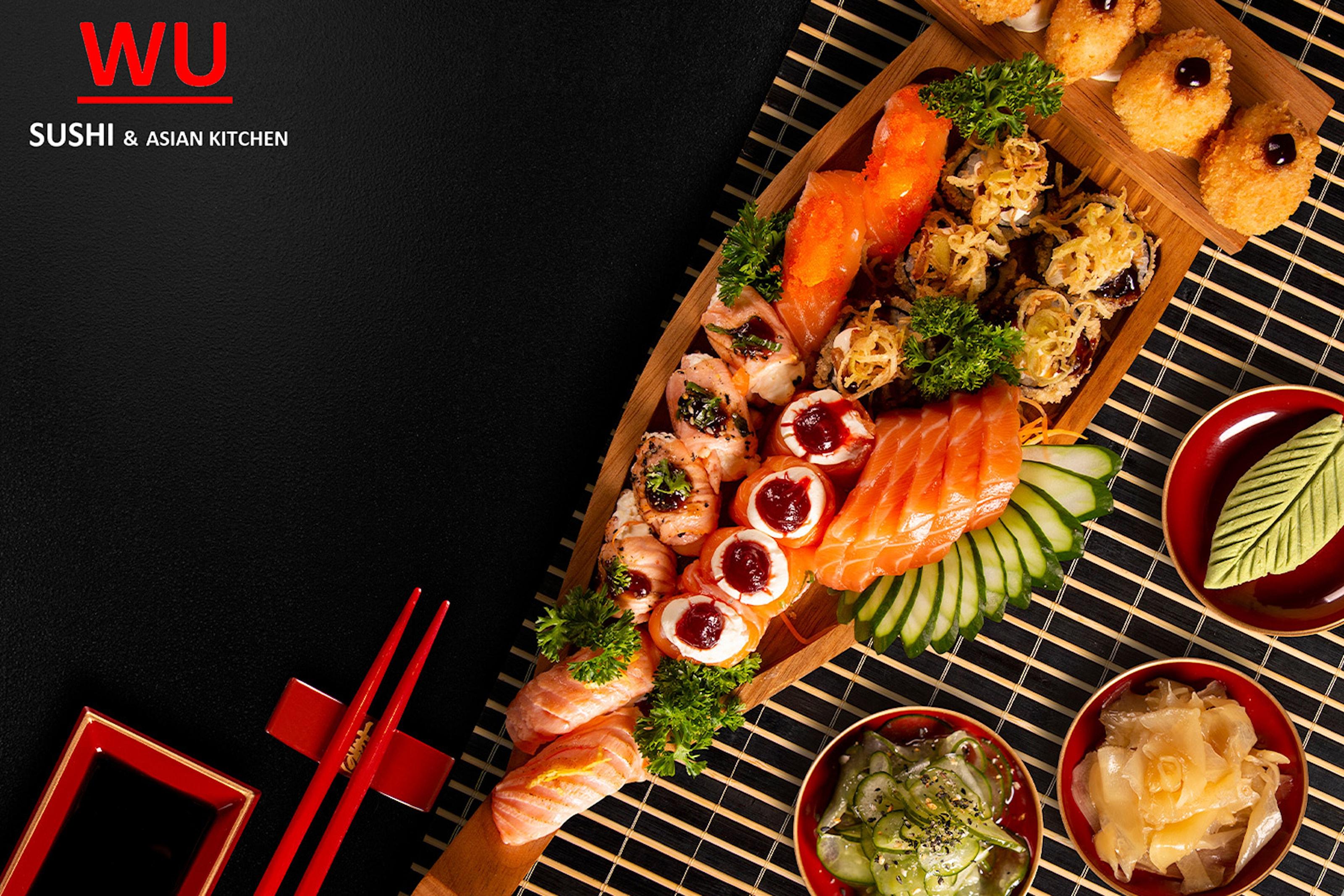 6-retters Asian fusion tasting meny