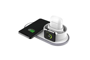 Trådlös snabbladdare för mobil, Apple Watch och Airpods