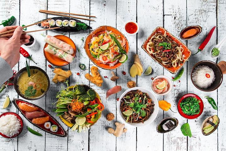 Asiatisk brunchbuffé med Sushi inkl. fördrink