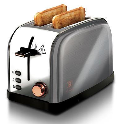 Grå/Roséguld, BerlingerHaus Toaster Stainless Steel, Berlinger Haus brödrost, ,  (1 av 1)