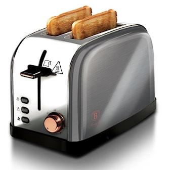 Grå/Roséguld, BerlingerHaus Toaster Stainless Steel, Berlinger Haus brödrost, ,