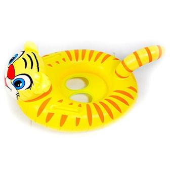 Yellow Tiger, Inflatable Floating Tube Seat, Badring för barn 1-5 år, ,