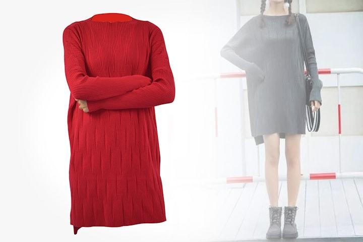 Mysig stickad klänning
