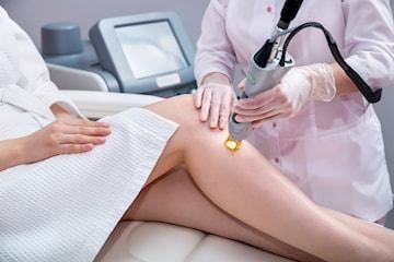 Hårfjerning med laser på valgfritt område, tre til syv behandlinger sentralt på Frogner