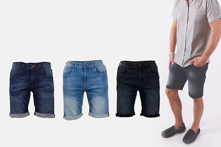 Pre End jeansshorts til herre
