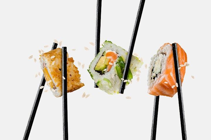 9 bitar sushi hos Asienköket