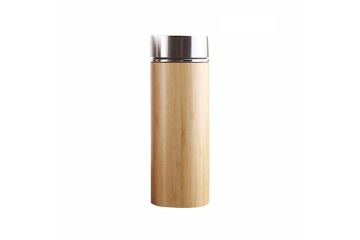 Termos, Bambu och Rostfritt Stål - 450 ml