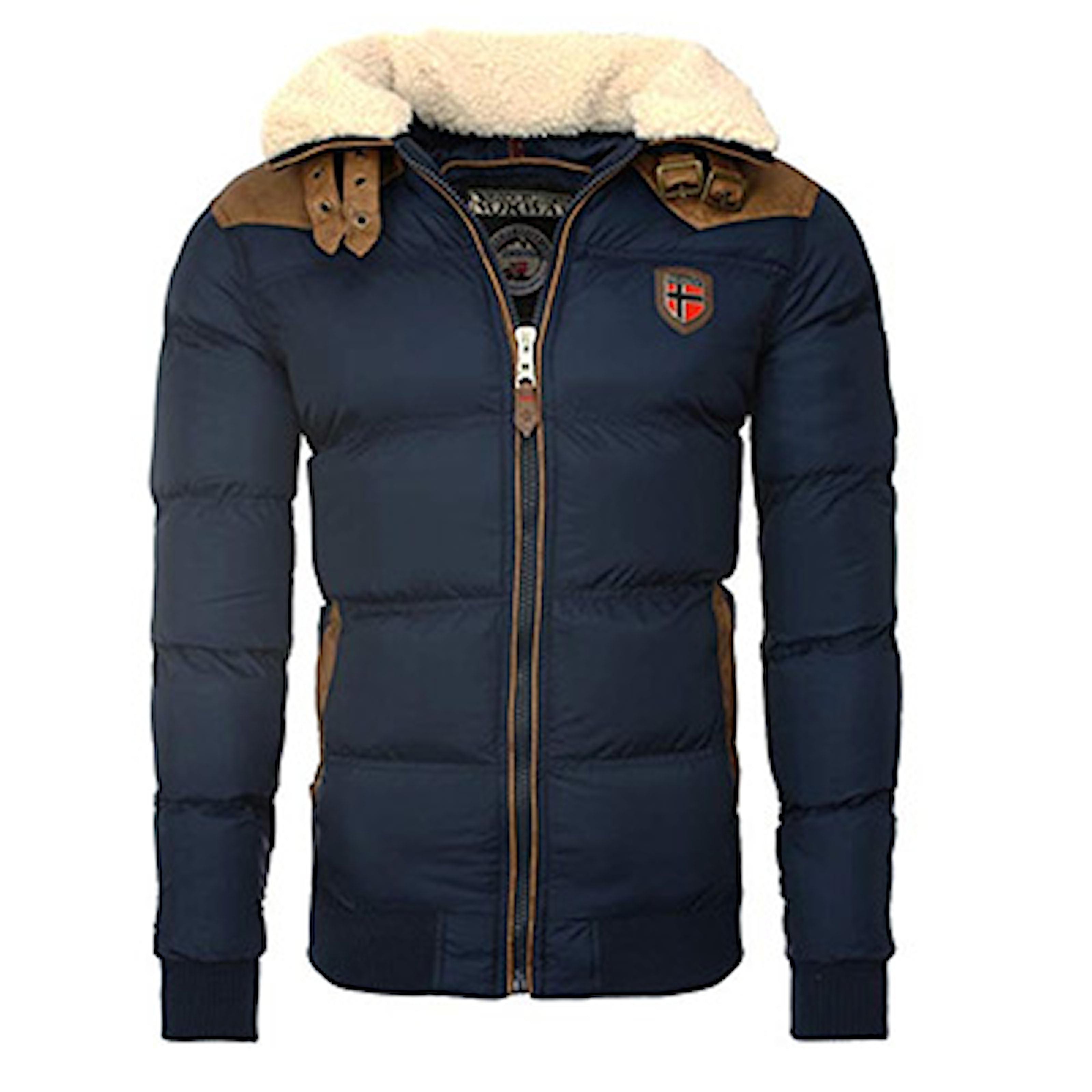 Marineblå, 3XL, Geographical Norway Padded Warm Jacket, Vinterjakke for menn, ,