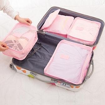 Rosérosa, 6x luggage storage, 6-pack lagringsposer til koffert, ,