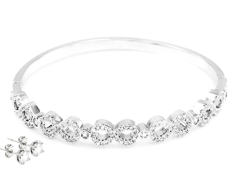 Smyckeset River Infinity med Swarovski-kristaller (1 av 1)