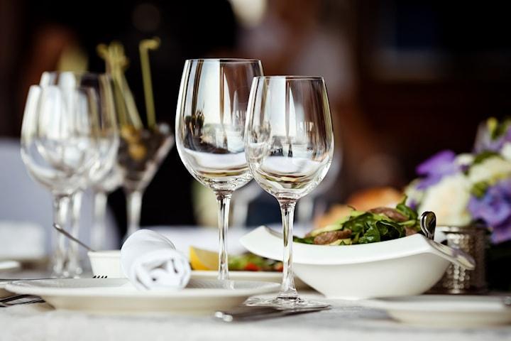 Valfri tvårättersmeny på Restaurang Kristall