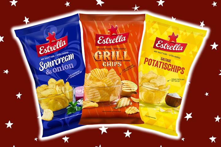Storpack chips från Estrella