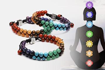 Armband med chakrapärlor