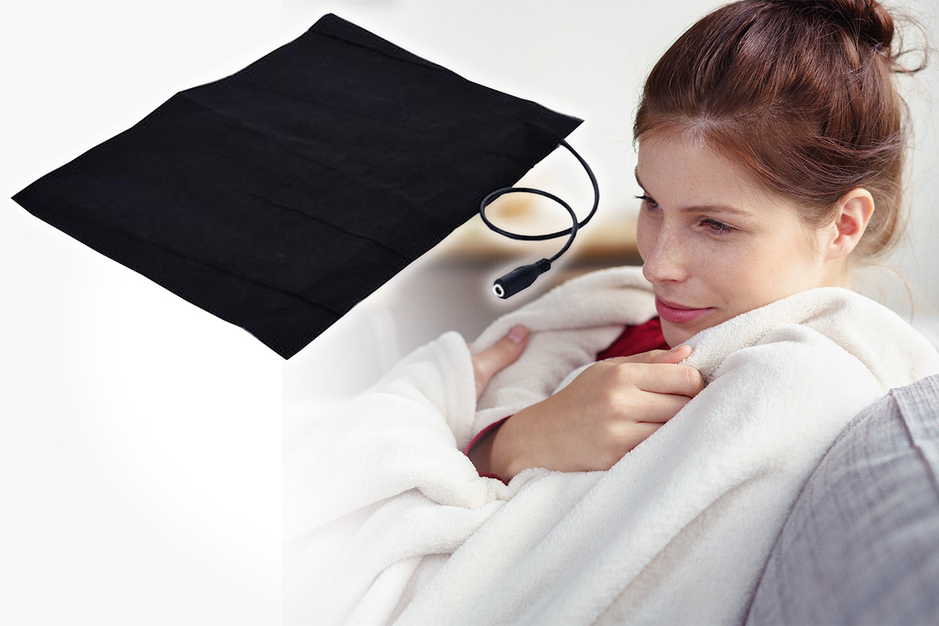 Elektrisk varmematte med USB