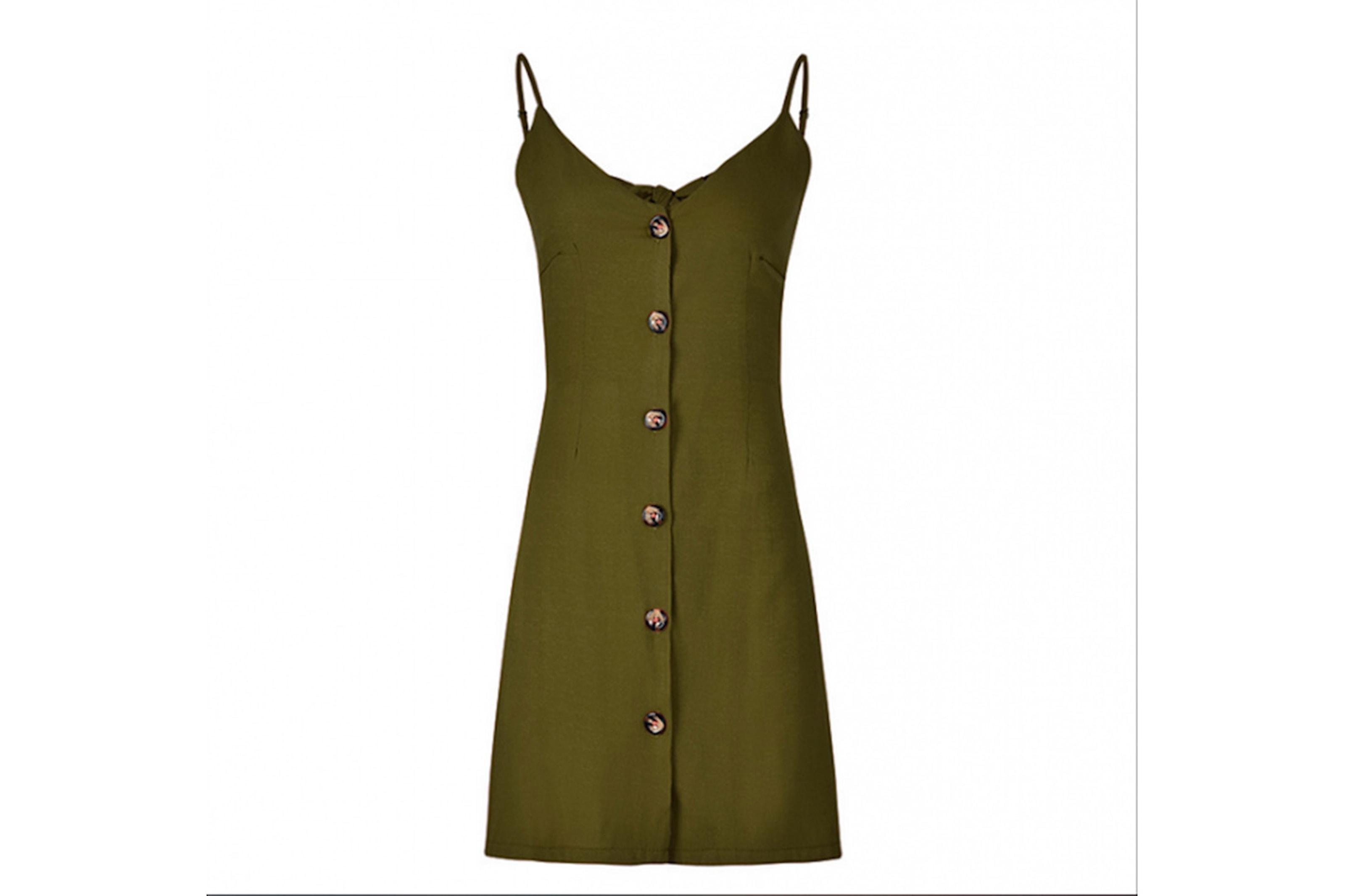 Miniklänning med knappar