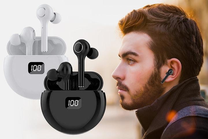 Trådløse øretelefoner med Bluetooth